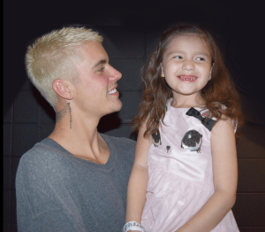 emily nanooch, justin bieber, make a wish, wilms' tumour, children and cancer