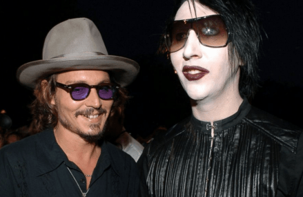 Marilyn Manson and Johnny Depp are pals. And good ones at that!
