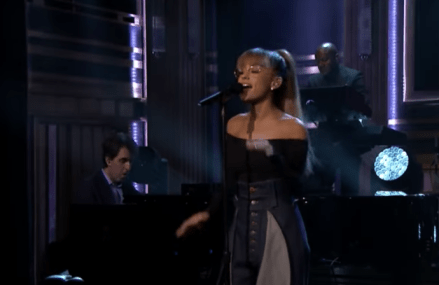 Ariana Grande performs live on The Tonight Show Starring Jimmy Fallon!