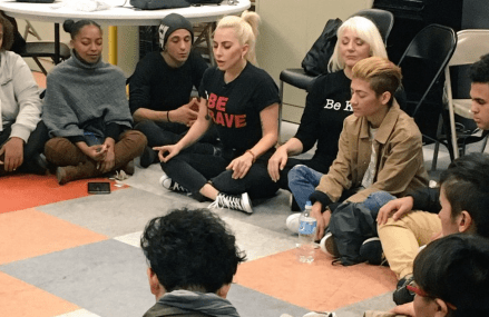 Lady Gaga spends time with homeless LGBT youth in NYC!