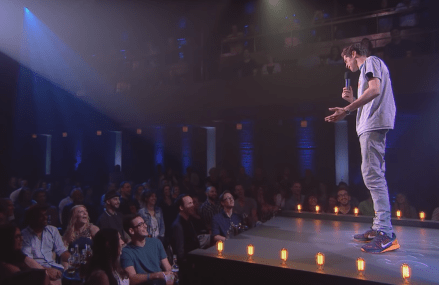 Pete Davidson jokes about weed commercials on Just for Laughs!