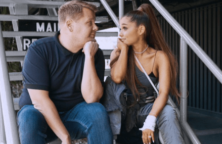 Ariana Grande and James Corden Carpool Karaoke! Hilarious!