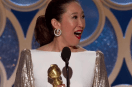 Sandra Oh: The first woman of Asian descent to host Golden Globes and her win!