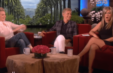 "Jennifer Aniston asks Portia ""What's it like to live with Ellen?"""