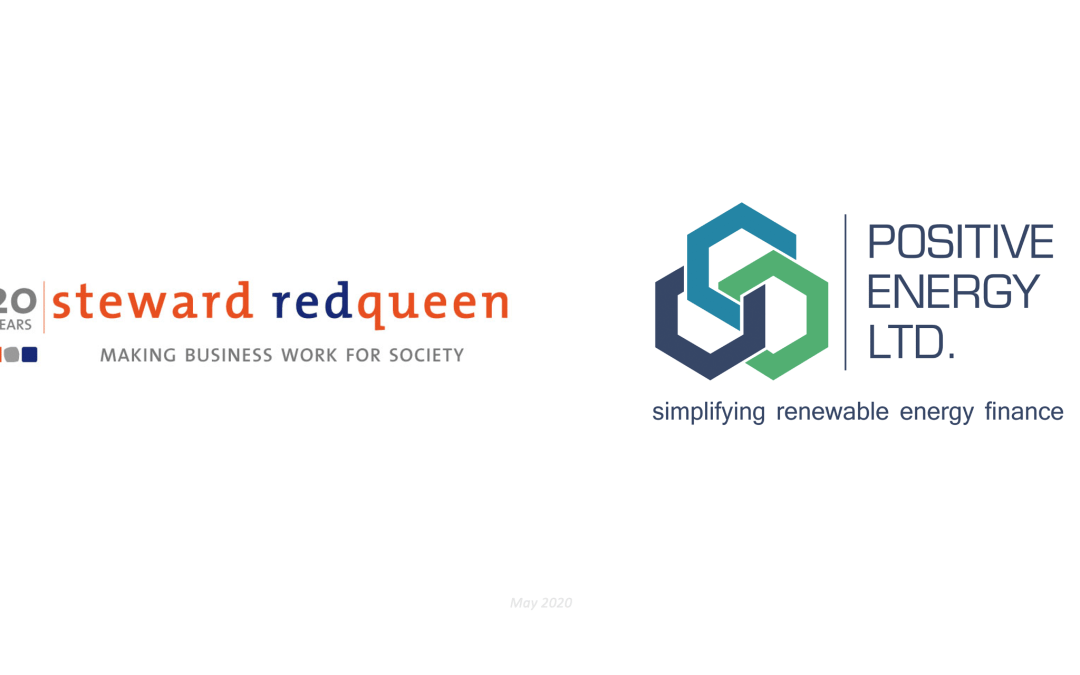 Positive Energy Ltd. and Steward Redqueen form strategic partnership to launch an Environmental, Social, and Governance (ESG) digital assessment tool for clean energy investments.