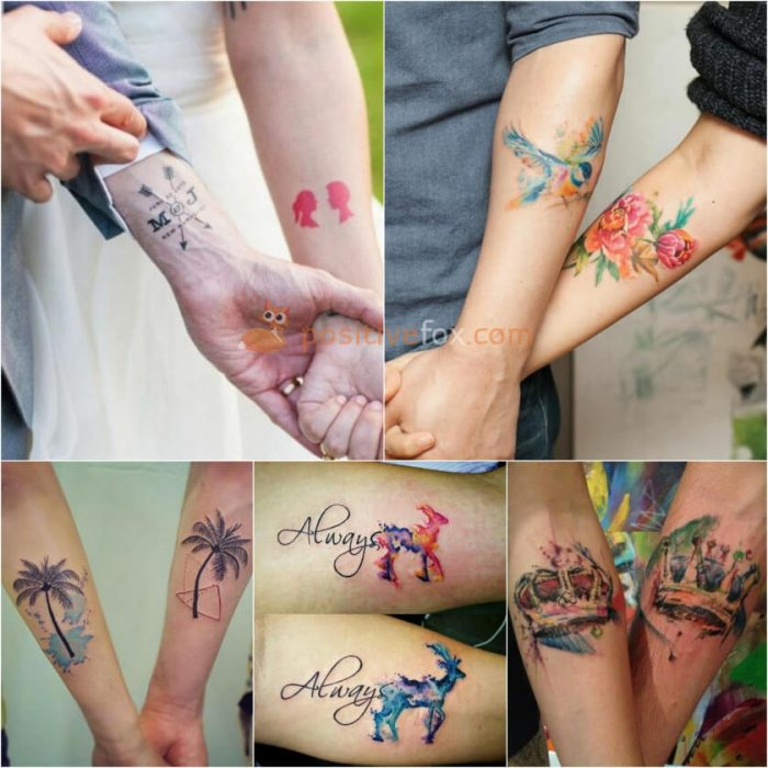 Matching Meaningful Husband And Wife Tattoos