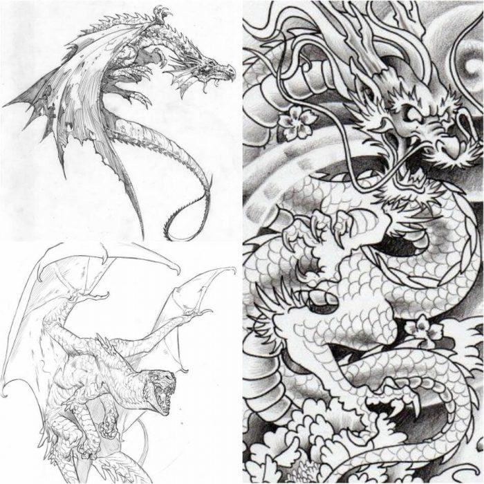 dragon tattoo designs european