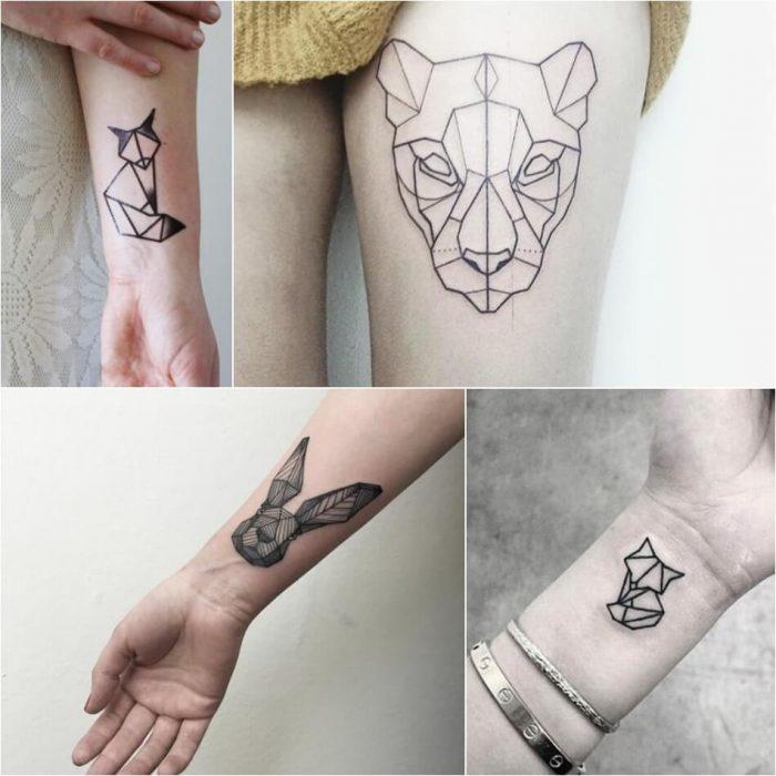Staggering Geometric Tattoos Animals Geometric Tattoo