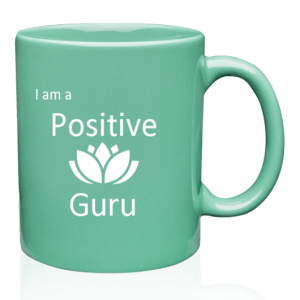 positive guru coffee and tea mug tiel