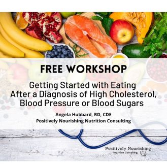 free workshop poster getting started with eating after a diagnosis of heart disease or diabetes