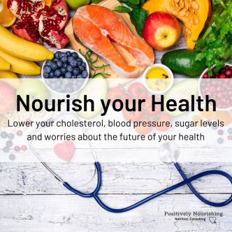 heart healthy foods and stethoscope Nourish your Health program