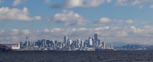 Seattle's skyline takes on a whole different look from the water. (Photo by the author)