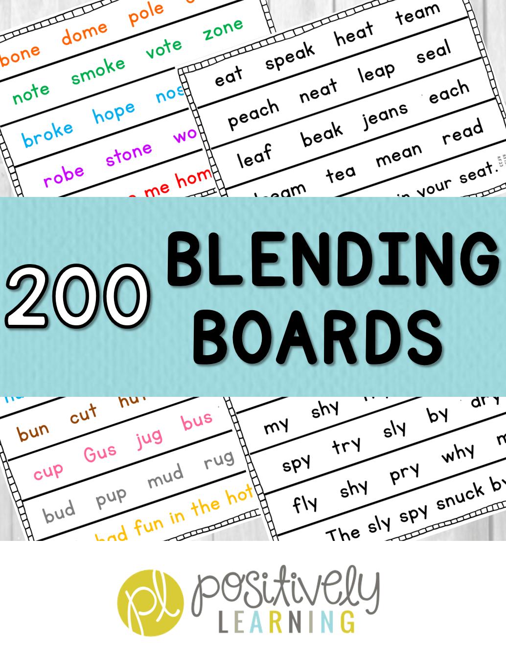 Phonics Blending Board