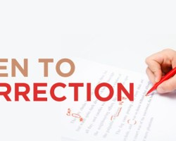 Be Open to Correction