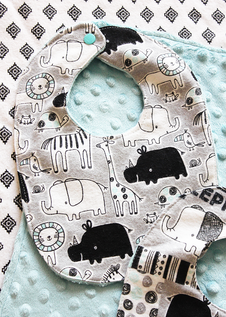 Free Baby Bib Pattern Pdf : pattern, Pattern, Minutes!