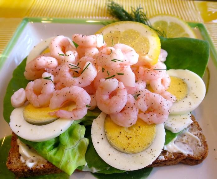 Swedish Style Shrimp Sandwich