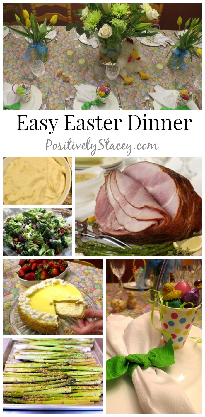 Planning an Easy Easter Dinner is simple and delicious with this party planning menu! From appetizers to the dessert, it is yummy!
