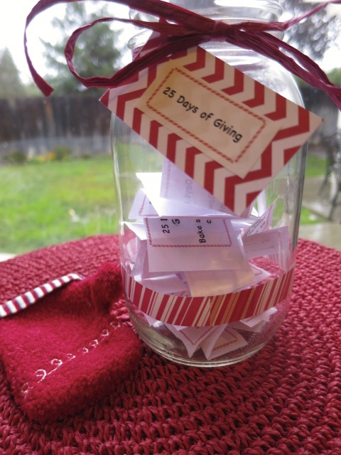 25 Days of Giving Jar