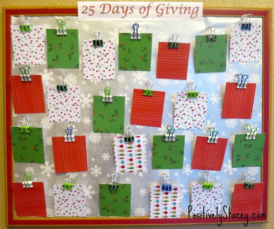 25 Days of Giving ~ A Holiday Calendar