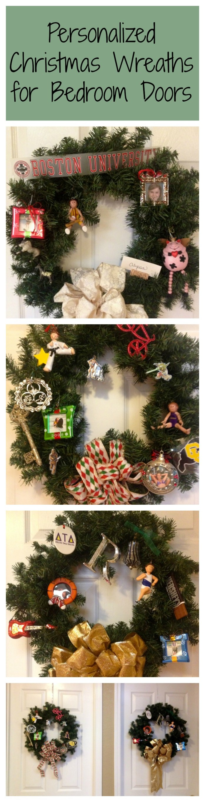Personalized Christmas Wreaths for Bedroom Doors - Creating new traditions in our blended family