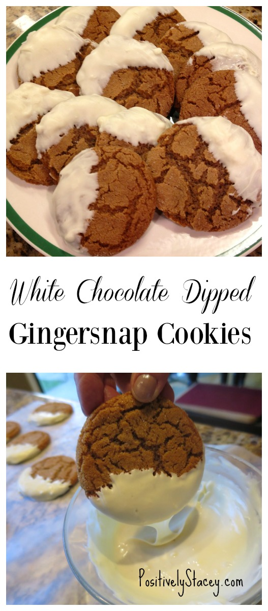White Chocolate Dipped Gingersnap Cookies
