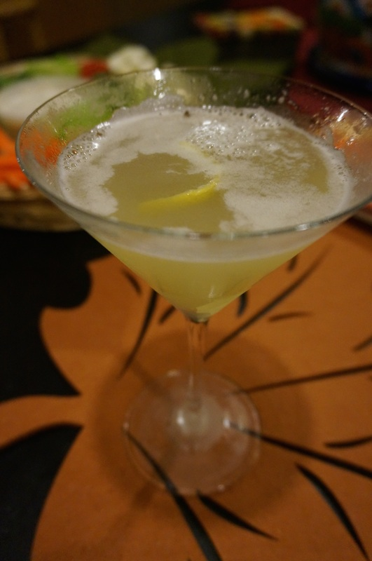 A ginger pear martini to get the party started.
