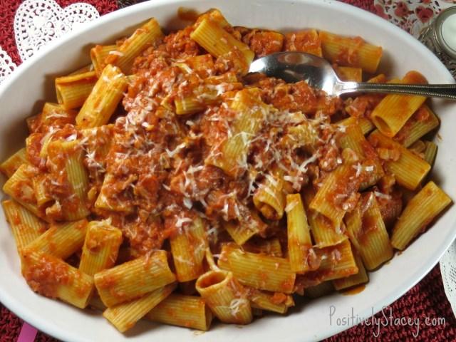 Pasta with Cream and Pancetta