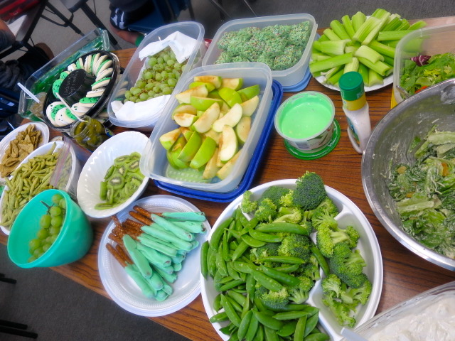A St. Patrick's Day Green Potluck in the Classroom