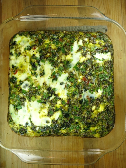 Three Greens Frittata