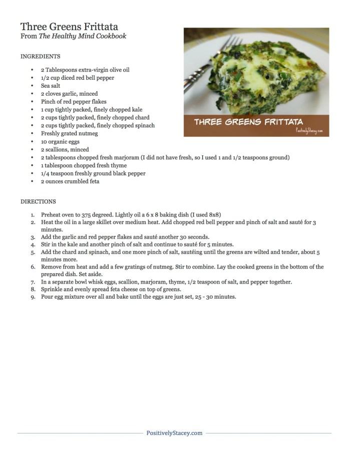 Three Greens Frittata Recipe