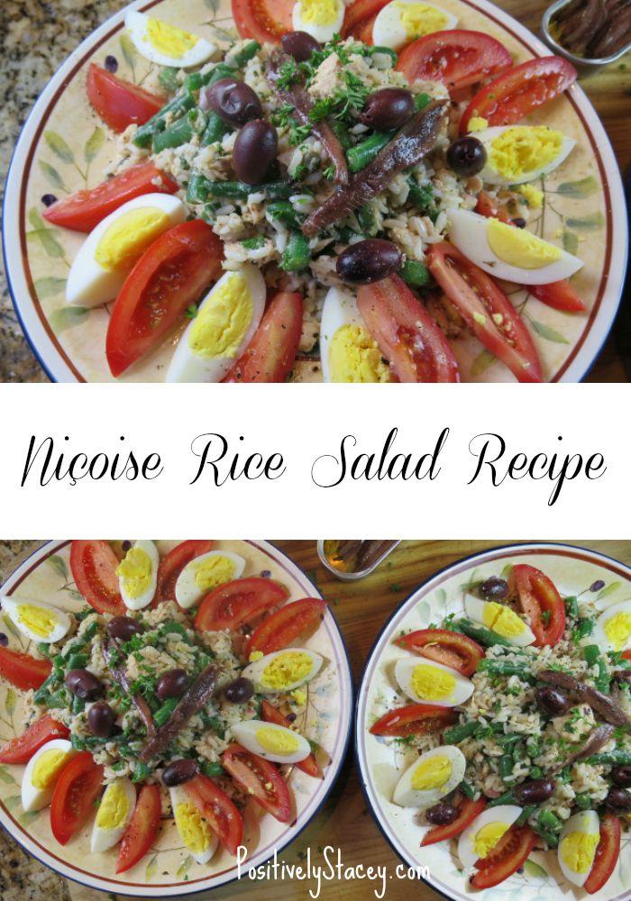 Niçoise Rice Salad Recipe Pin