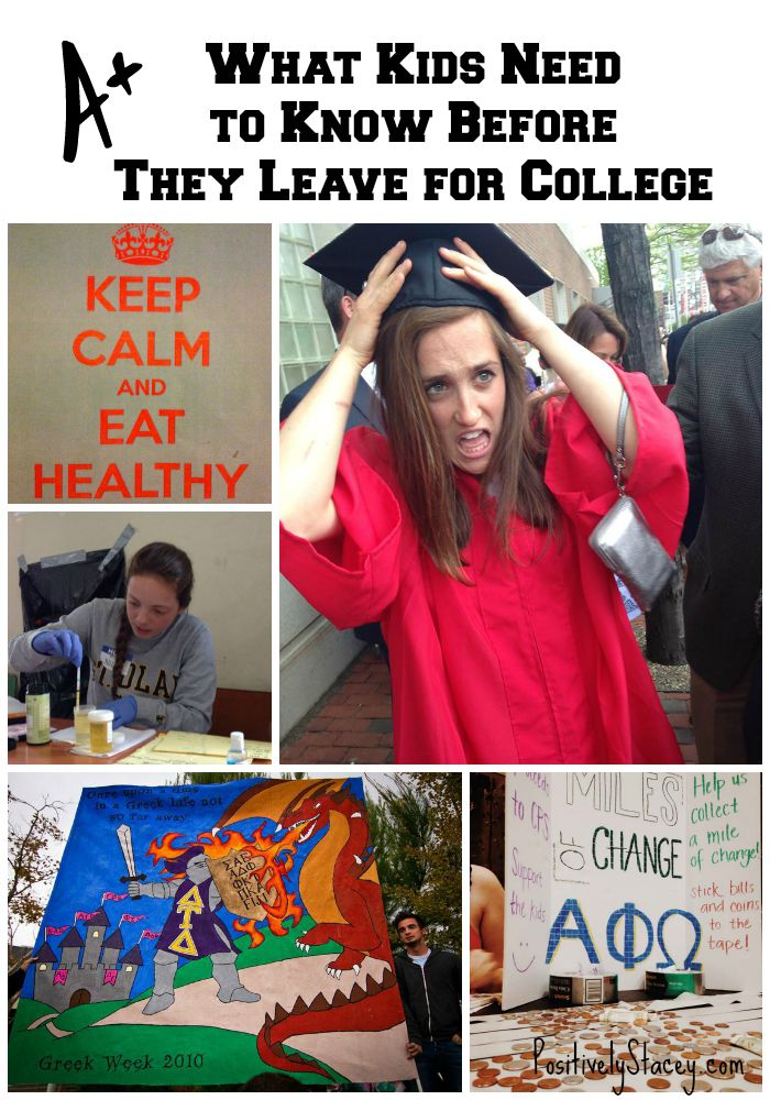 What Kids Need to Know Before They Leave for College - Here are some great talking points and info to cover with your kids before they leave.