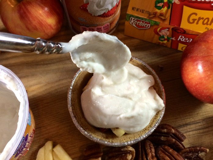 Caramel Apple Anytime Greek Yougurt Pie #EffortlessPies