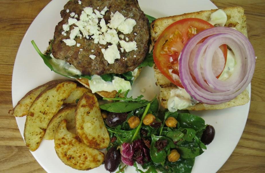 Greek Lamb Burger Recipe