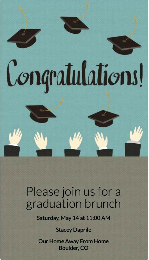 graduation brunch Evite