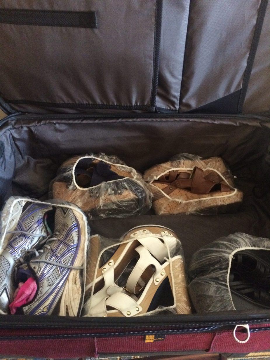 Packing Shoes #TravelHack