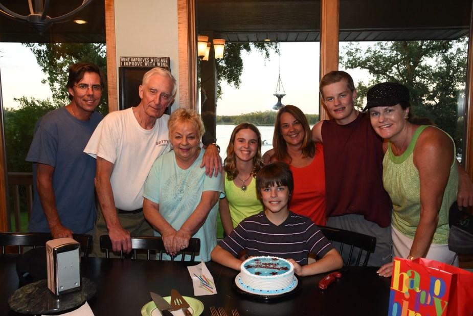 Birthday family Lake