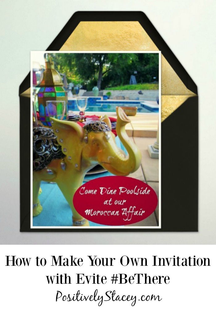 how to make your own invitation with evite bethere positively stacey