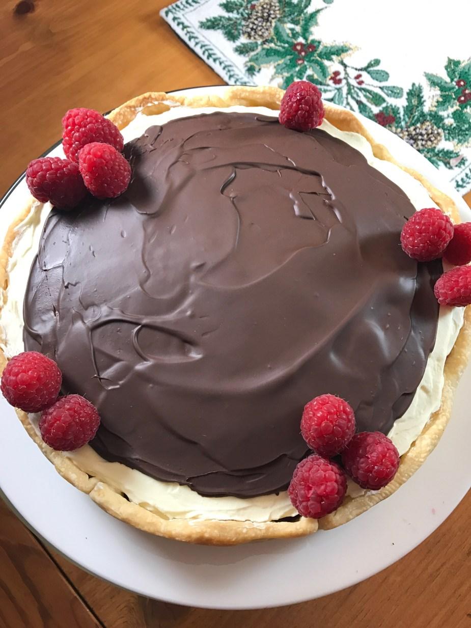 White and Dark Chocolate Raspberry Tart