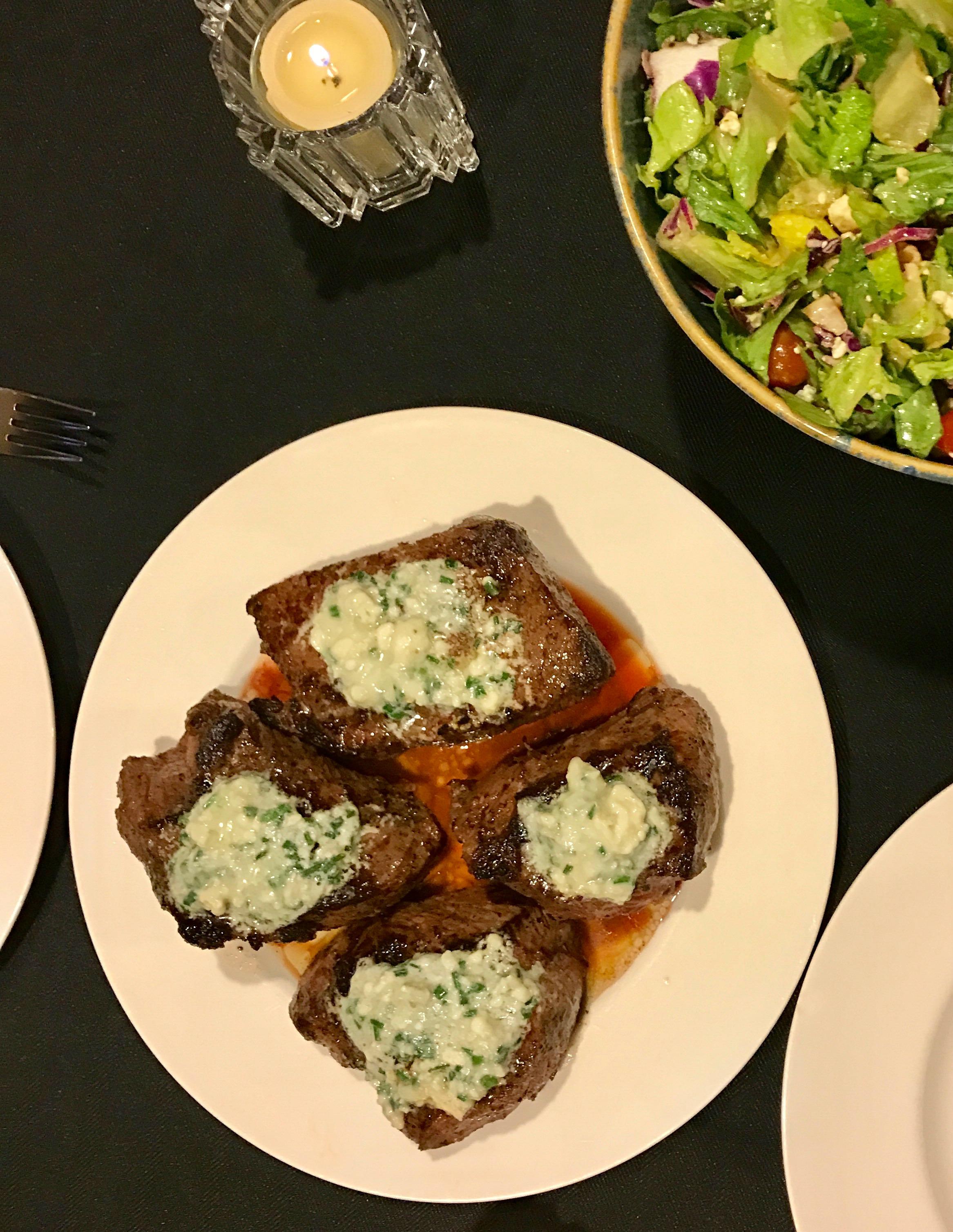 Blue-Cheese-Sirloin plate