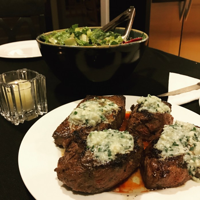 Blue Cheese Topped Sirloin Recipe