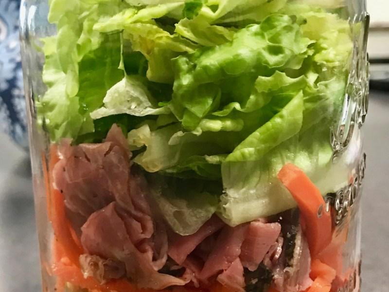 Roast Beef Salad in a Jar
