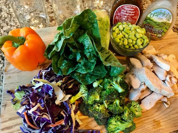 Asian Chicken Salad in a Jar Recipe