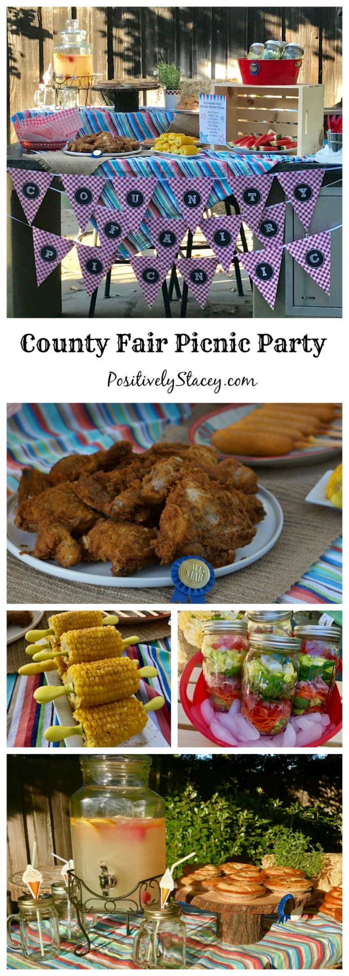 A County Fair Picnic Party that includes a yummy make-ahead menu of favorite fair foods and carnival games for everyone to play.