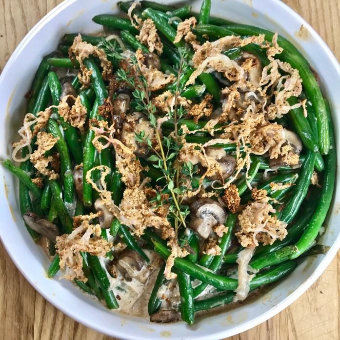 Lower Carb Green Bean Casserole