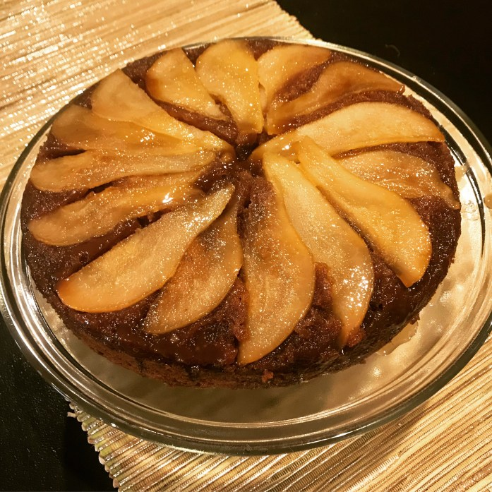 Pear Upside-Down Spice Cake #Sunday Supper