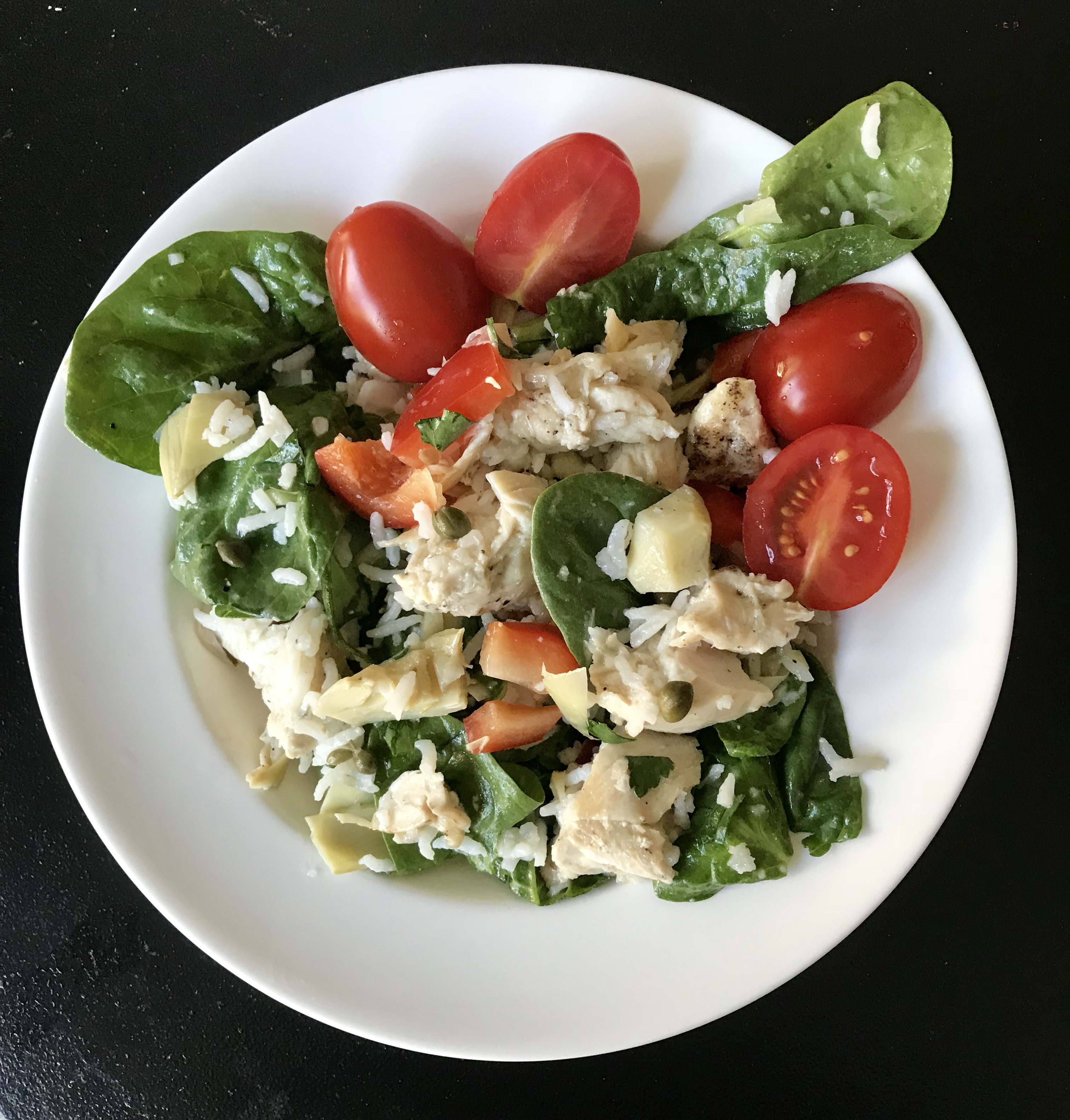 Greek Chicken, Rice, and Spinach Salad Freestyle Recipe