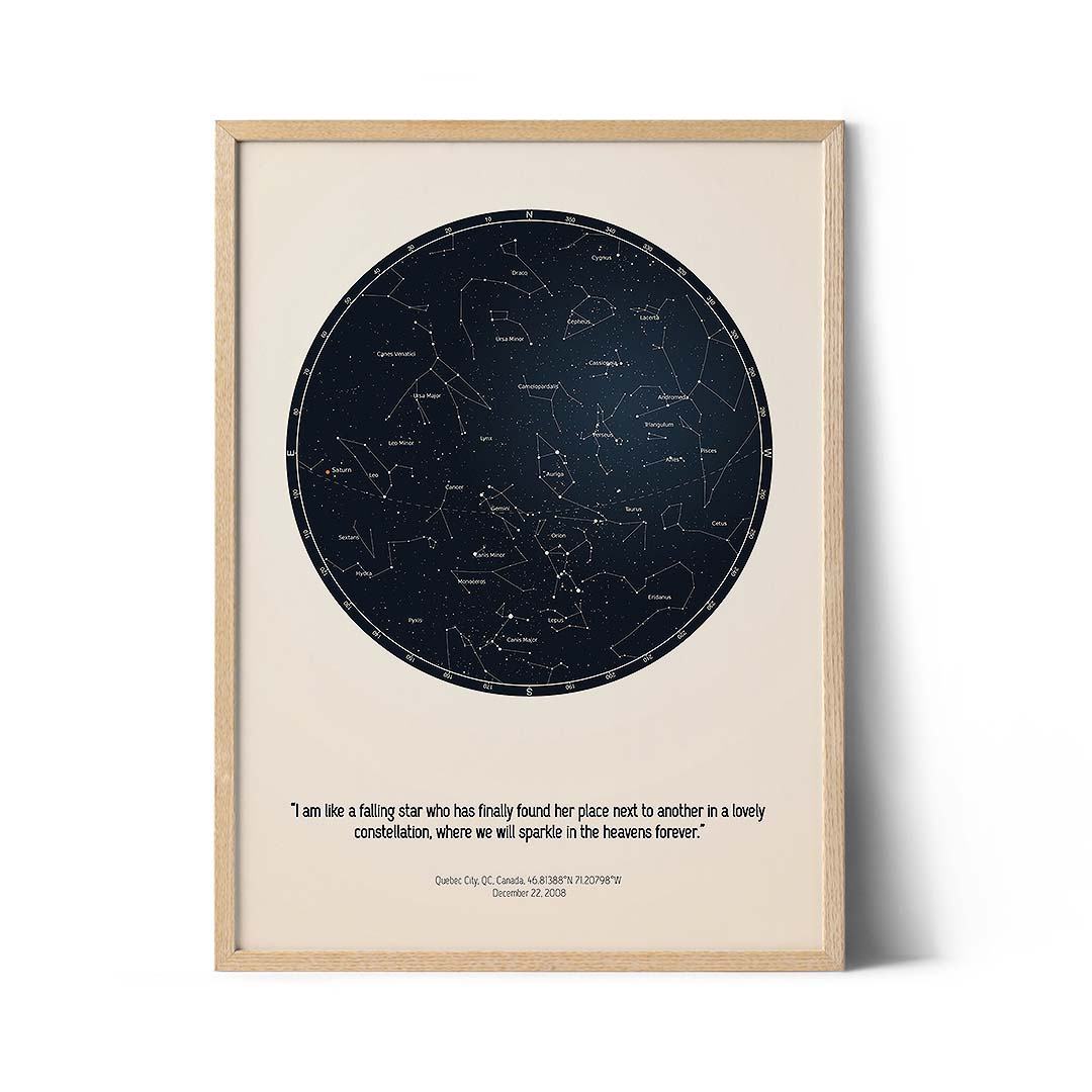 personalized star map poster unique star map gift positive prints