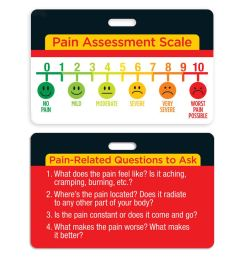 pain assessment scale laminated badge card [ 1000 x 1000 Pixel ]