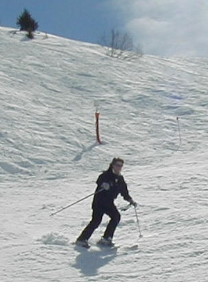 Patricia skiing